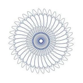 Spirograph No. 6 in Blue