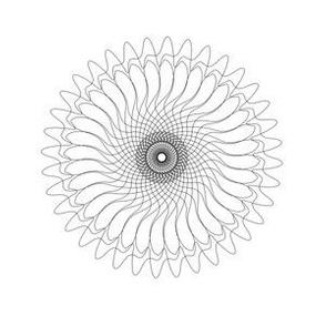 Spirograph No. 7 in Black