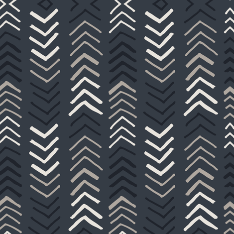ARROWS-CHARCOAL fabric by whiteforest on Spoonflower - custom fabric