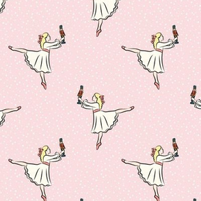 ballet - nutcracker - clara - pink w/snow