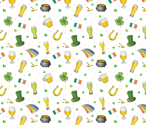 St. Patrick's Day Symbols fabric by hipkiddesigns on Spoonflower - custom fabric