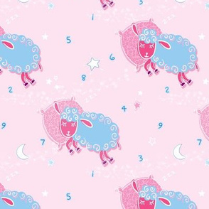 sheepy heads pink