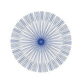 Spirograph No. 14 in Royal Blue