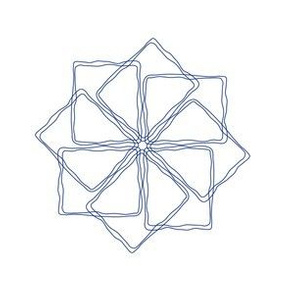 Square Spirograph No. 1 in Royal Blue