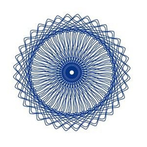 Spirograph No. 15 in Royal Blue