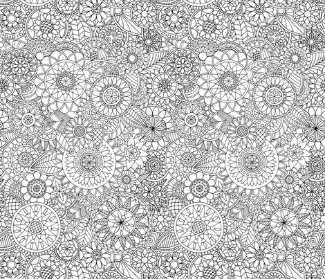 Doodle Garden fabric by diseminger on Spoonflower - custom fabric