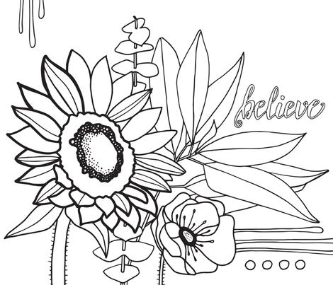 believe fabric by jackiejean on Spoonflower - custom fabric