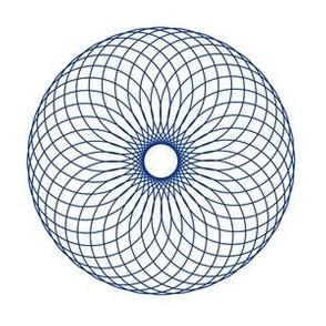 Spirograph No. 17 in Blue
