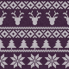 fair isle deer (grape) || snowflake || winter knits