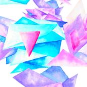 Watercolor Quartz Fragmentation - Large Scale