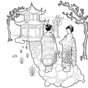 A walk with the geishas