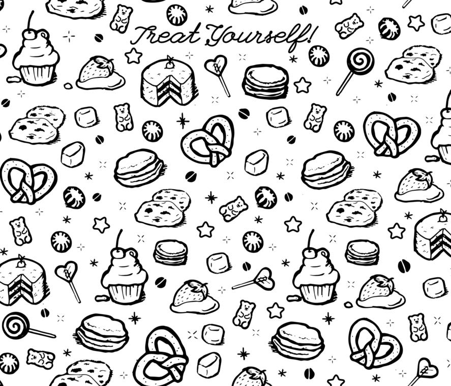 Treat Yourself! fabric by baebeecoo on Spoonflower - custom fabric