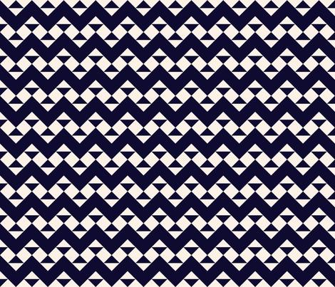 Navy Ribbon Zig Zags fabric by janetdrummond on Spoonflower - custom fabric