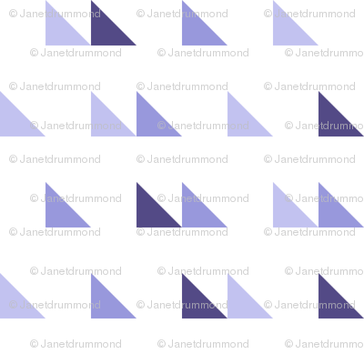 Scattered triangles in purple