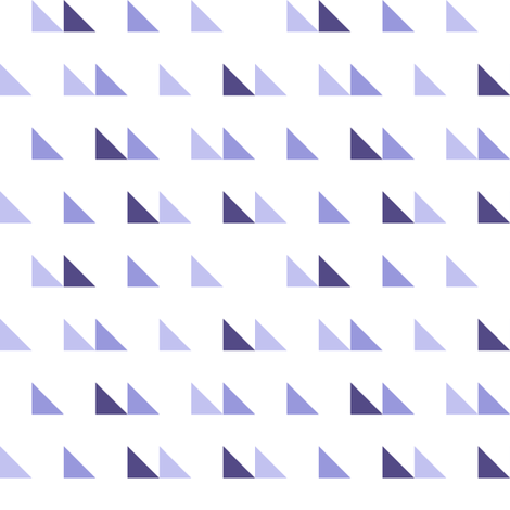 Scattered triangles in purple fabric by janetdrummond on Spoonflower - custom fabric