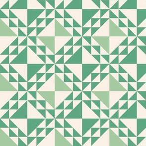 Lady of the Lake Patchwork Green