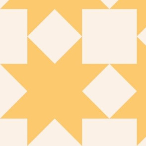 Yellow stars on cream: 6in mix and match