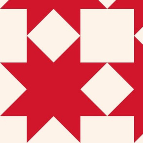 Red stars on cream: 6in mix and match