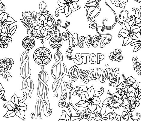 Never Stop Dreaming fabric by thepeachtree on Spoonflower - custom fabric
