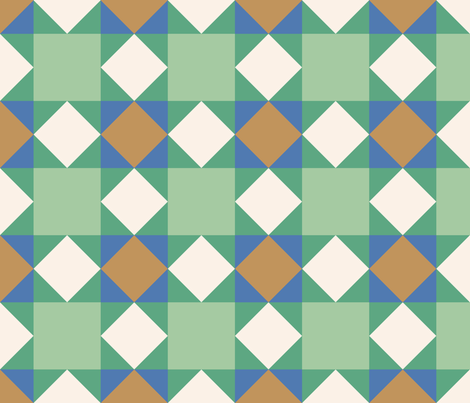 Green Crosses: 6in mix and match fabric by janetdrummond on Spoonflower - custom fabric