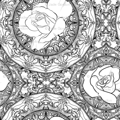 Roses for Coloring