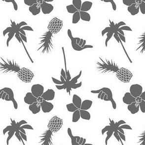 Gray and White Tropics