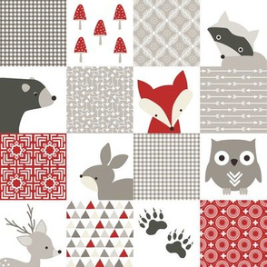 Backcountry Buddies Woodland Animals Cheater Quilt