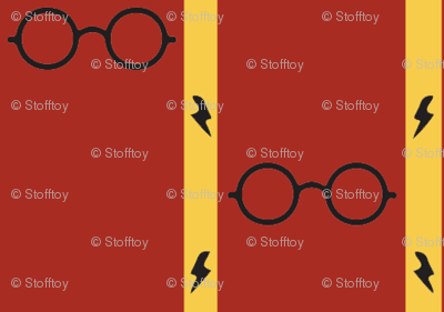 wizard's glasses - red/gold - small