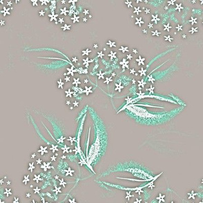 Starflower in Frost Aqua and Gray