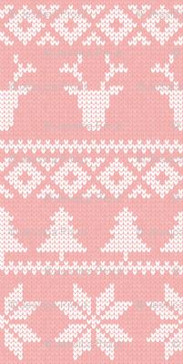 fair isle deer (light pink) || snowflake || winter knits