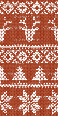 fair isle deer (maple) || snowflake || winter knits