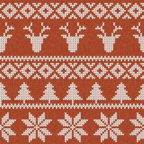 fair isle deer (maple) || snowflake || winter knits