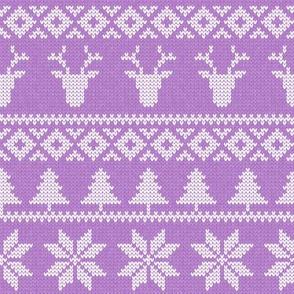 fair isle deer (purple) || snowflake || winter knits