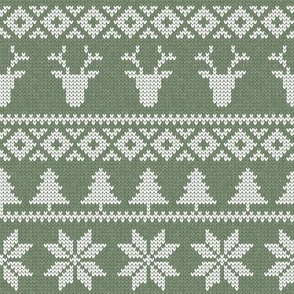 fair isle (sage) || snowflake || winter knits