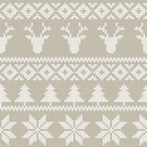 fair isle deer (tan) || snowflake || winter knits