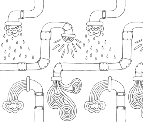 Weather pipes fabric by celebrindal on Spoonflower - custom fabric