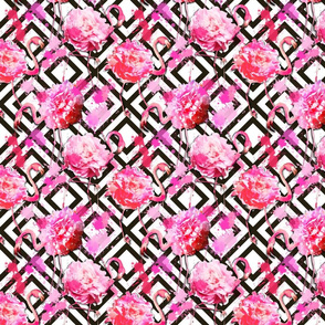 flamingo floral geometric small