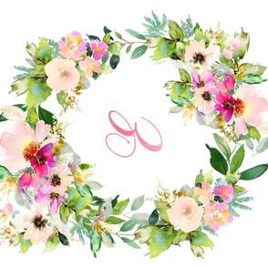 Kalani Blooms / Monogram / Letter E