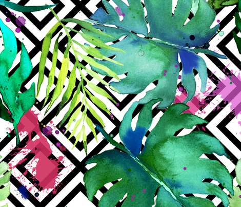 Green_tropical_plants_with_geometric_large_shop_preview