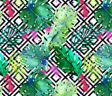 Green_tropical_plants_with_geometric_medium_shop_preview