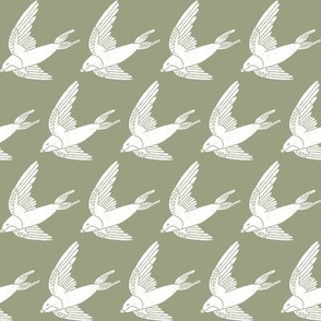swallow // woodland bird nature animal swallows nursery fabric artichoke