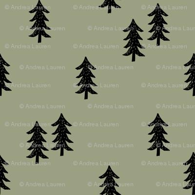 tree // minimal outdoors camping woodland nature forest basic nursery tree fabric artichoke