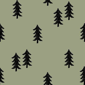 tree // minimal outdoors camping woodland nature forest basic nursery tree fabric artichoke