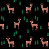 rudolph reindeer christmas deer santa's sleigh fabric for winter decor black