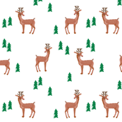 rudolph reindeer christmas deer santa's sleigh fabric for winter decor white green