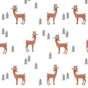 rudolph reindeer christmas deer santa's sleigh fabric for winter decor white