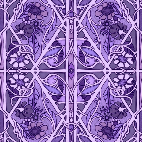 Only Purple Can Play Today, Okay? fabric by edsel2084 on Spoonflower - custom fabric