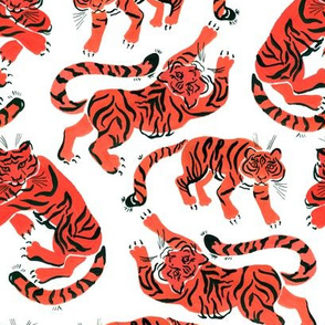gouache tigers