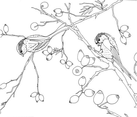 winterbirdslake fabric by hanneke_binnen on Spoonflower - custom fabric