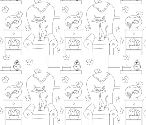 Granny's Pets fabric by buco_parade on Spoonflower - custom fabric
